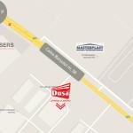 Harta cu locatia Dusadoor (Bors, Oradea)